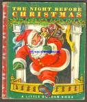 Click here to enlarge image and see more about item RCB81910A009: THE NIGHT BEFORE CHRISTMAS - Little Golden Book