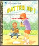 Click here to enlarge image and see more about item RCB91010a015: BATTER UP! - Little Golden Book