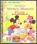 MICKEY MOUSE'S PICNIC Little Golden Book