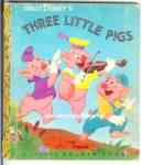 Click here to enlarge image and see more about item RCHBK20810A032: DISNEY 3 LITTLE PIGS Little Golden Book