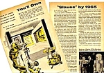 Click here to enlarge image and see more about item ROBOT0122A1: 1957 ROBOTS MECHANICAL MEN Mag. Article