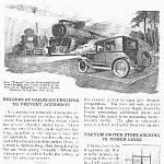 Click here to enlarge image and see more about item RR0525AA1: 1927 RAILROAD ROLLERS - Crossing Mag Article
