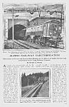 1923 Alpine ST. GOTHARD RAILWAY Mag Article