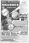1917 BURLINGTON POCKET WATCH Ad