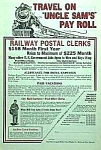 Click here to enlarge image and see more about item RR723A1: 1927 RAILWAY - Railroad POSTAL CLERK Ad