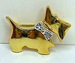 The Cutest Jewelled SCOTTIE DOG Pin