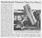Click here to enlarge image and see more about item SC0530AA1: 1939 Lick Observ. Calif. TELESCOPE Article