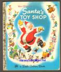 Disney SANTA'S TOY SHOP Little Golden Book