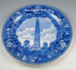 Click here to enlarge image and see more about item SGL111210A5: WEDGWOOD Saratoga Battle Monument COMMEMORATIVE PLATE