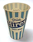 Click here to enlarge image and see more about item SO0710A2: 1960s HIRES ROOTBEER Advertising CUP L@@K!