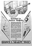 Click here to enlarge image and see more about item ST0830A4: 1929 BROWN & SHARPE Tool Ad L@@K!