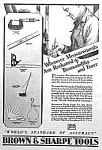 Click here to enlarge image and see more about item ST0830B3: 1929 BROWN & SHARPE Tool Ad L@@K!