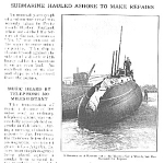 Click here to enlarge image and see more about item SUB0419A1: 1910 No. 5 SUBMARINE Mag Article