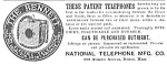 Click here to enlarge image and see more about item TE0419AA1: 1890 BENNETT Patent TELEPHONES Ad