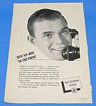Click here to enlarge image and see more about item TEL1009A1: 1940 BELL TELEPHONE Old Phone Handset Ad