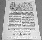 Click here to enlarge image and see more about item TEL821A2: 1926 AT&T TELEPHONE Phone Ad