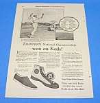 Click here to enlarge image and see more about item TENN1009A1: 1925 TENNIS THEMED - Keds Shoe Ad