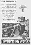 Click here to enlarge image and see more about item TL0529AA1: 1922 STARRETT TOOL Ad L@@K!