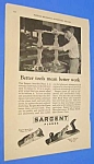 Click here to enlarge image and see more about item TL301AB1: 1927 Sargent WOOD PLANE - Tool Ad L@@K!