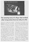 Click here to enlarge image and see more about item TO0529AA1: 1960 ZIPPO LIGHTERS Ad