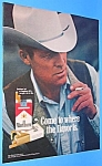 Click here to enlarge image and see more about item TOB707AA1: 1971 MARLBORO MAN Magazine Ad - Cigarettes