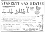 Click here to enlarge image and see more about item TOO0418AA1: 1910 STARRETT GAS HEATER Ad L@@K!