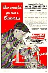 Click here to enlarge image and see more about item TOOL0121A2: 1947 SNAP-ON TOOL Valve Compressors Ad