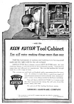 Click here to enlarge image and see more about item TOOL0122A3: 1919 KEEN KUTTER TOOL CABINET Ad L@@K!