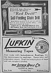 Click here to enlarge image and see more about item TOOL531AA2: 1911 LUFKIN TAPE MEASURE Magazine Ad