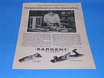 Click here to enlarge image and see more about item TOOL814AA3: 1927 Sargent WOOD PLANE/Tool Ad L@@K!