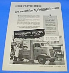 Click here to enlarge image and see more about item TR0101A1: 1946 DODGE DELIVERY TRUCK Magazine Ad