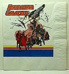 Click here to enlarge image and see more about item TV1111A1: MINT Period BATTLESTAR GALACTICA Napkin