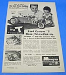 Click here to enlarge image and see more about item TY0105A1: 1962 MONOGRAM Ford Custom 'T' Toy Model Kit Ad