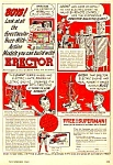 1948 GILBERT ERECTOR SET Toy - SUPERMAN Book Ad