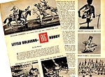 Click here to enlarge image and see more about item TY0122A3: 1958 LEAD SOLDIERS TOY Magazine Article