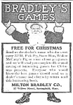 Click here to enlarge image and see more about item TY0419AA1: 1905 MILTON BRADLEY GAMES TOY Santa Mag Ad