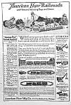 Click here to enlarge image and see more about item TY0509A5: 1924 AMERICAN FLYER Model Railroad - Structo Ad