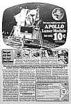 Click here to enlarge image and see more about item TY1103A4: 1969 TOY APOLLO LUNAR MODULE Ad L@@K!