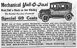 Click here to enlarge image and see more about item TY1124A1: 1929 YELL-O-TAXI Wind-up Toy Ad