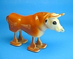 Click here to enlarge image and see more about item TY1203A1-2006: Toy & Brochure: 1950s MARX BULL RAMP WALKER Lot