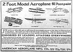 Click here to enlarge image and see more about item TY1213A1: 1910 AMERICAN AEROPLANE Toy Magazine Ad L@@K!