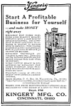 1923 KINGERY POP CORN MACHINE Vending Mag. Ad