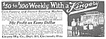 Click here to enlarge image and see more about item VE0419AA1: 1921 KINGERY Popcorn/Peanut Vending Ad