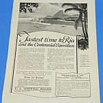 Click here to enlarge image and see more about item WF1002AA1: 1922 BRAZILIAN CENTENNIAL EXPO - Ocean Liner Ad