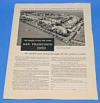 Click here to enlarge image and see more about item WF1009A1: 1939 GOLDEN GATE EXPOSITION California Ad