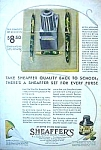 Click here to enlarge image and see more about item WR0323AA1: 1932 SHEAFFER FOUNTAIN Pen Art Deco Ad