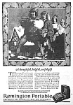 Click here to enlarge image and see more about item WR0326AA1: 1924 REMINGTON PORTABLE TYPEWRITER Ad