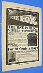 Click here to enlarge image and see more about item WR301AB1: 1911 FOX TYPEWRITER Ad