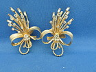 Large Sarah Coventry Rhinestone Earrings