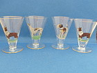 Four Dog Liquor Glasses